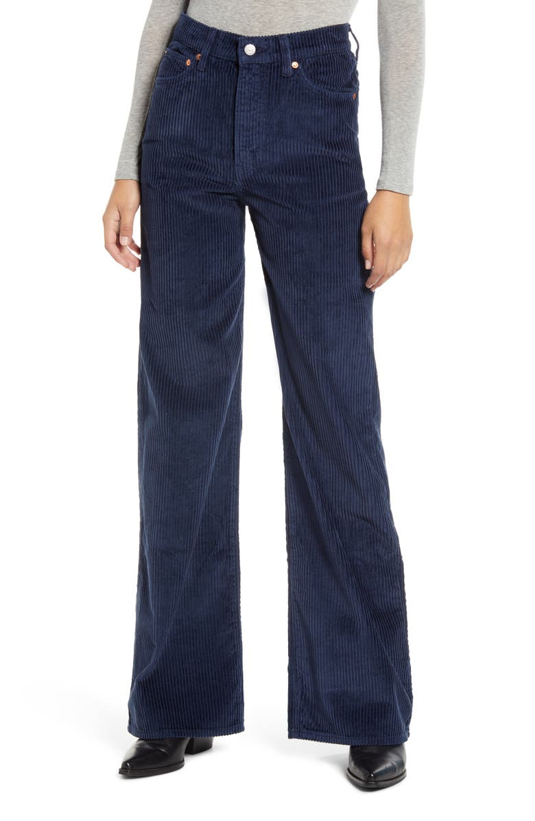 LEVI'S<SUP>®</SUP> Ribcage Wide Leg Corduroy Pants, Main, color, 420