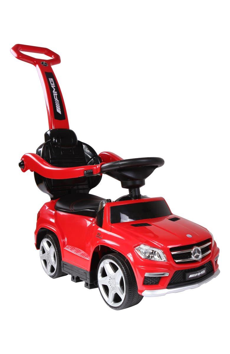 BEST RIDE ON CARS Best Ride-On Cars Mercedes 4-in-1 Push Car, Main, color, RED