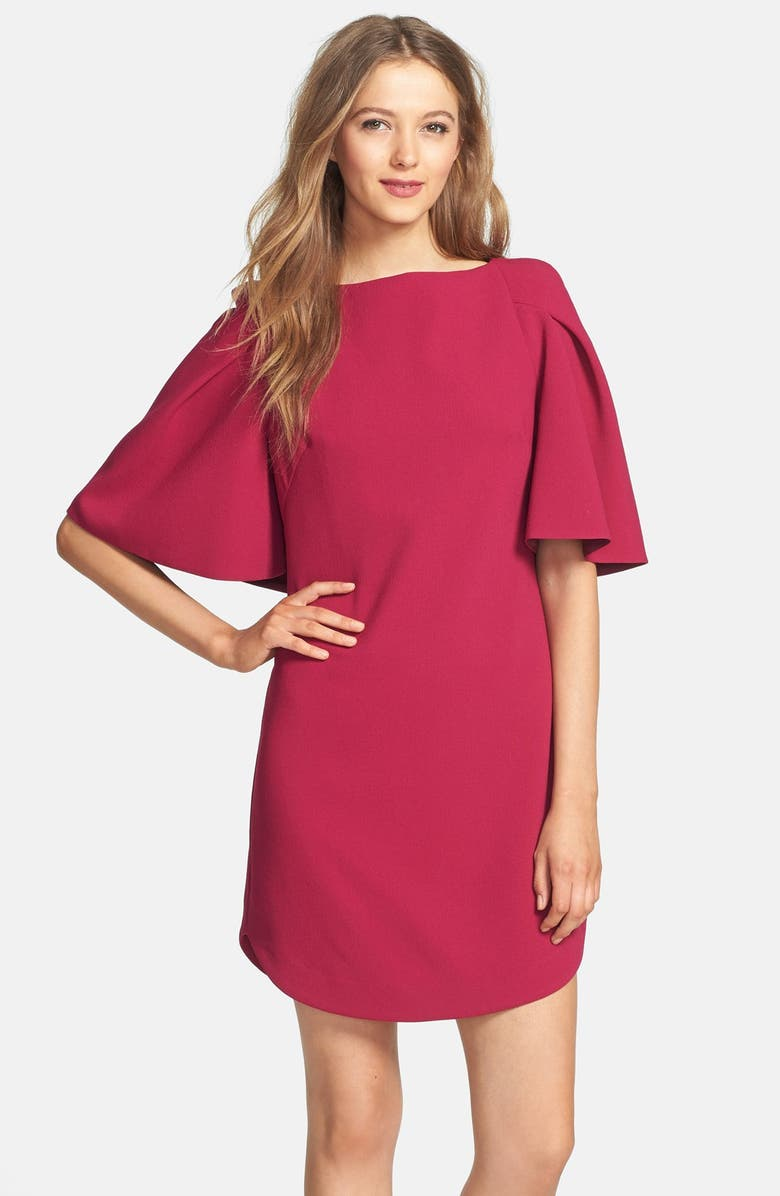 TRINA TURK 'Bryce' Crepe Shift Dresses, Main, color, LOGANBERRY