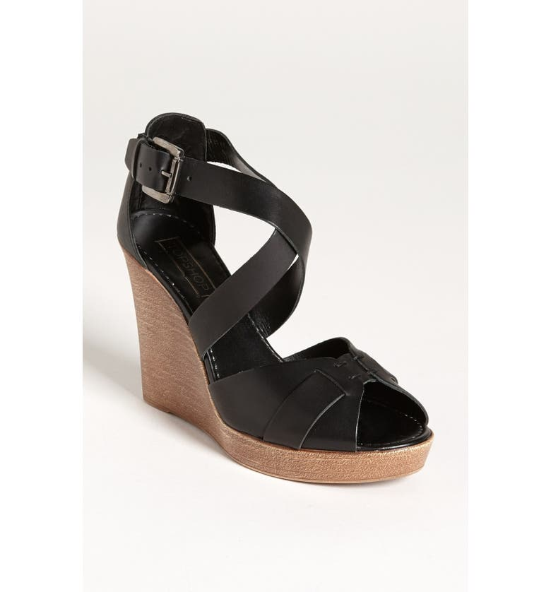 TOPSHOP 'Whippie' Wedge Sandal, Main, color, 001