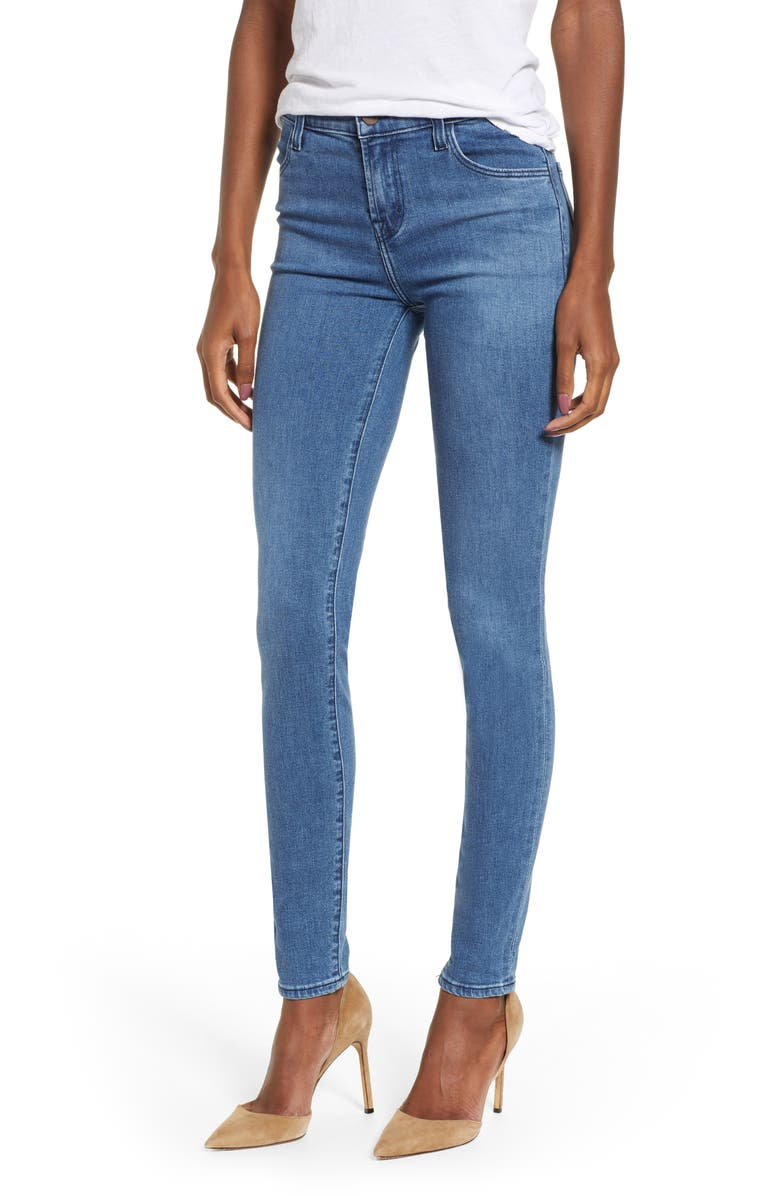 J BRAND Maria High Waist Skinny Jeans, Main, color, 400