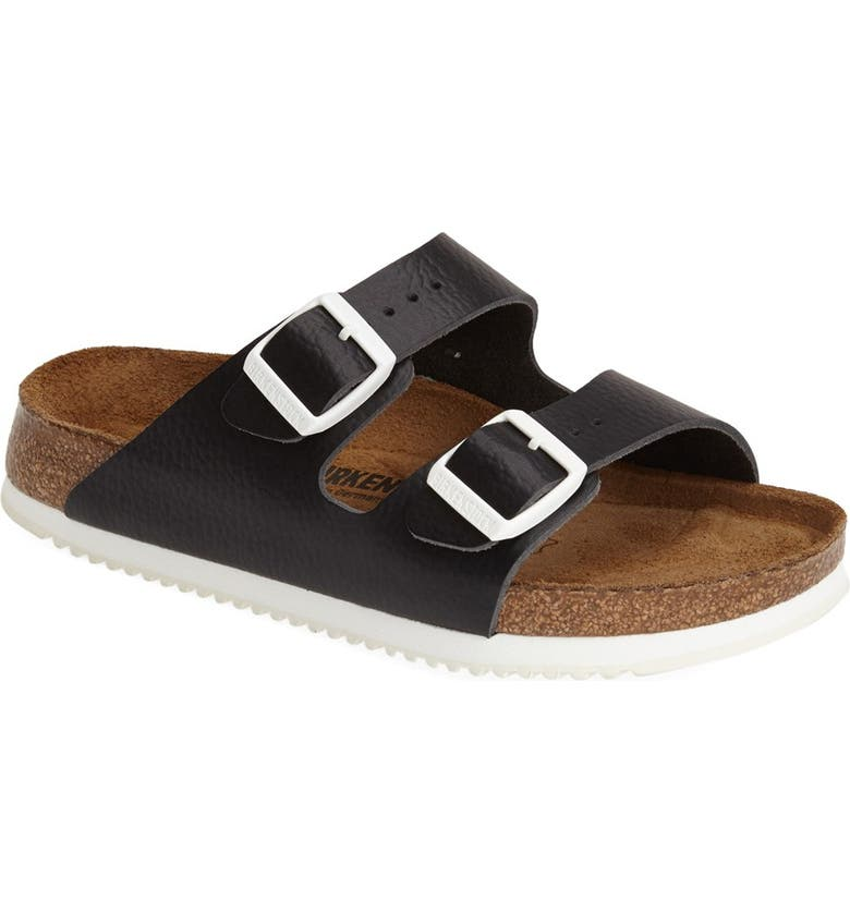 BIRKENSTOCK 'Arizona' Leather Double Band Footbed Sandal, Main, color, 001