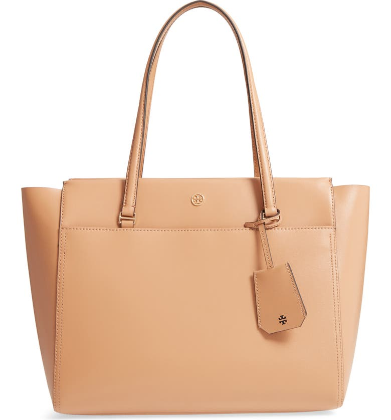 TORY BURCH Parker Leather Tote, Main, color, 250