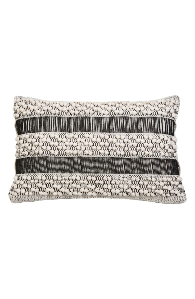 POM POM AT HOME Serena Handwoven Accent Pillow, Main, color, IVORY/ BLACK