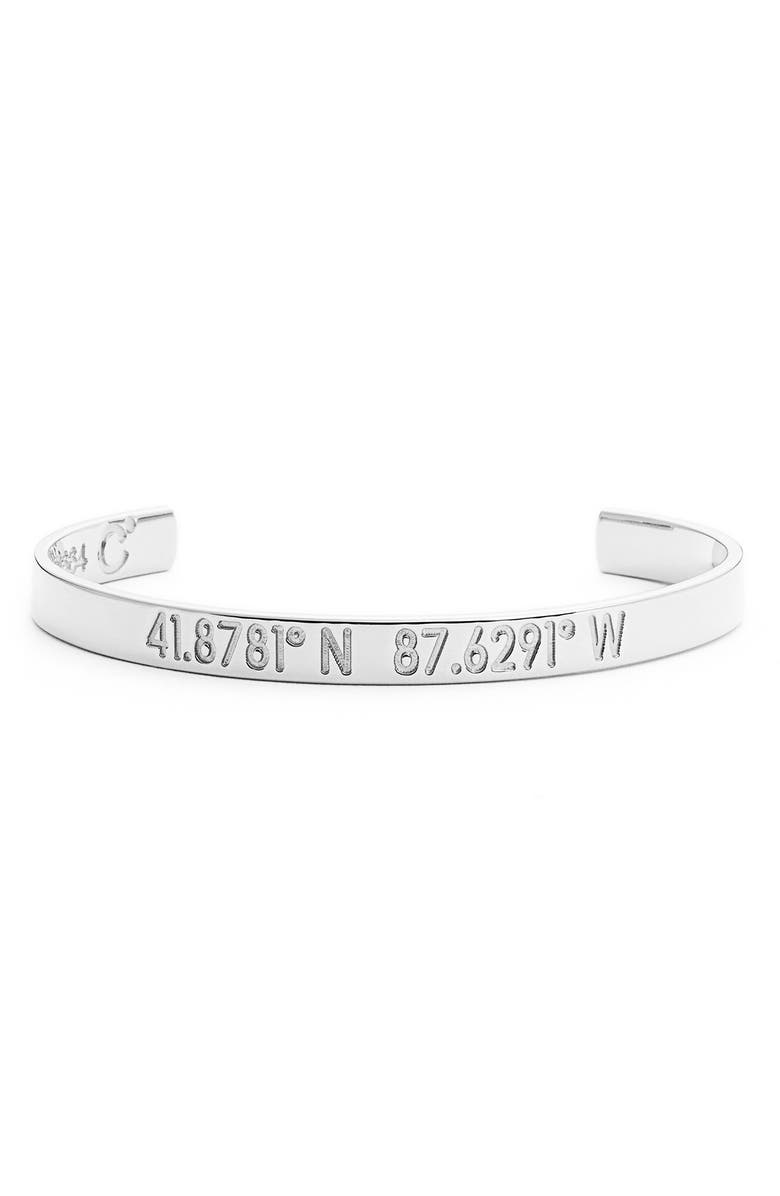 COORDINATES COLLECTION 'Compass - Legend' Engraved Cuff, Main, color, 040