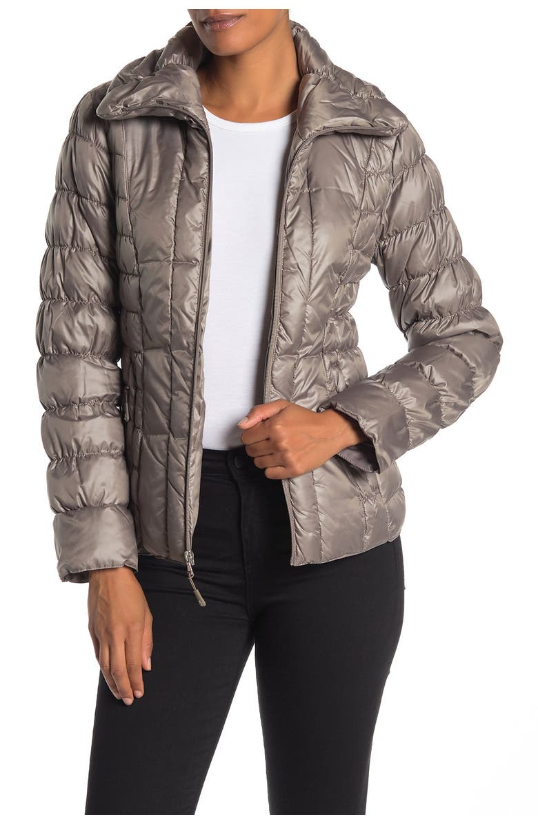 KENNETH COLE NEW YORK Quilted Packable Puffer Jacket, Main, color, THISTLE