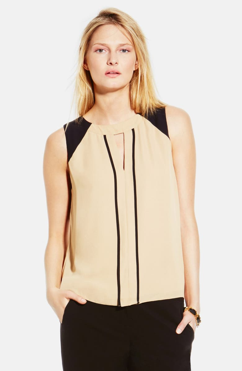 VINCE CAMUTO Colorblock Sleeveless Blouse, Main, color, 216