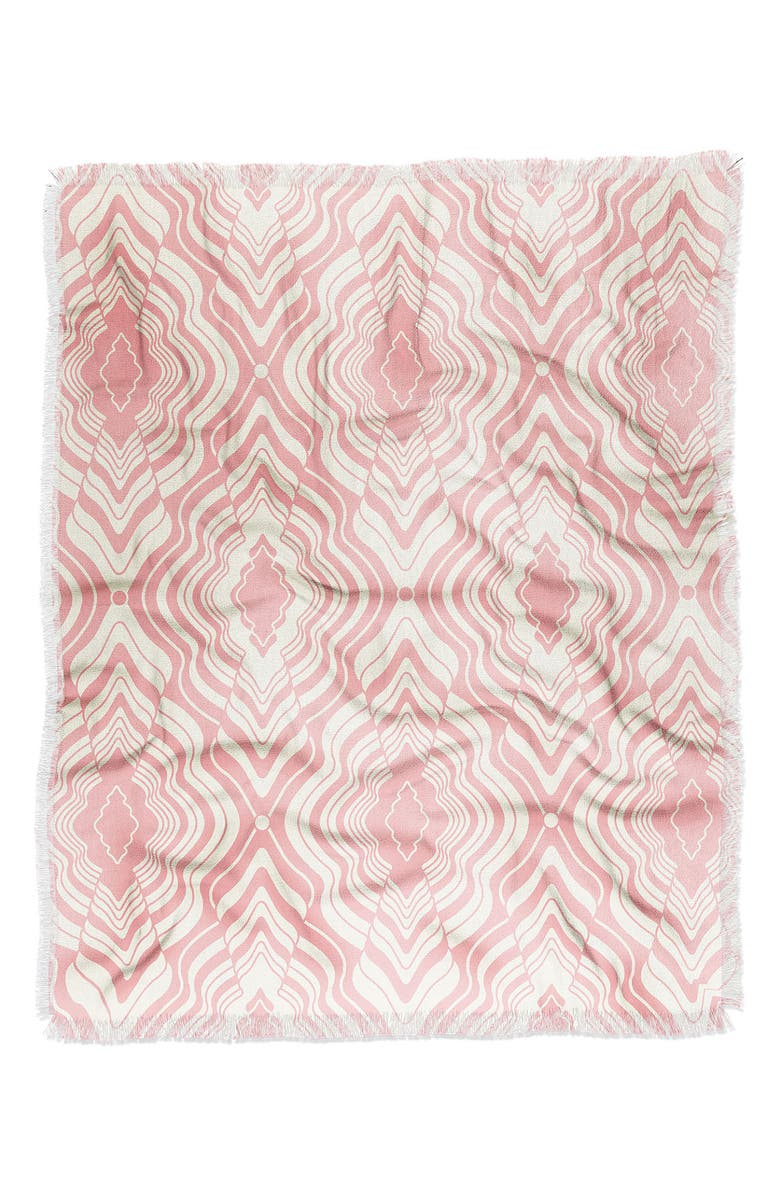 DENY DESIGNS Jenean Morrison Wave of Emotions Pink Woven Throw Blanket, Main, color, MULTI
