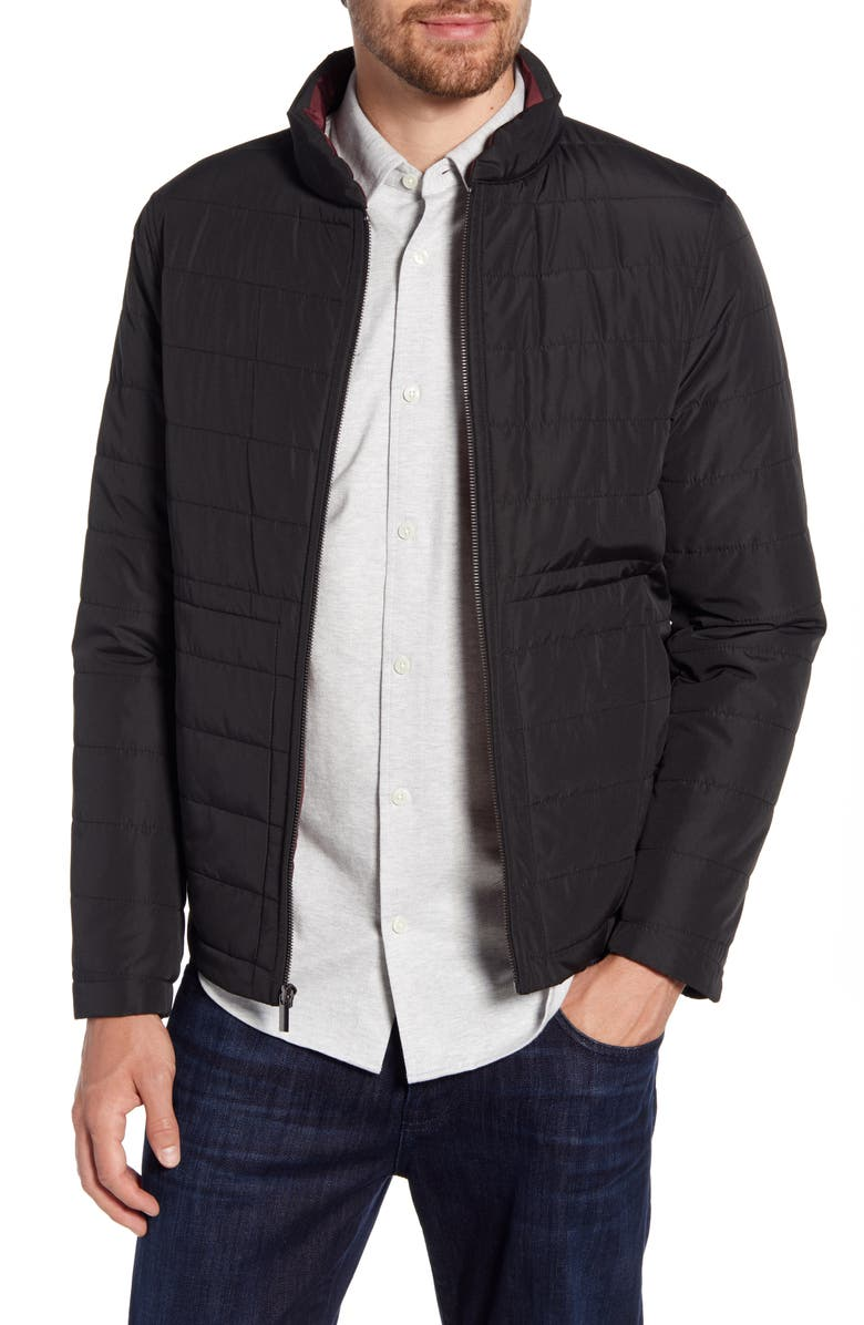 NORDSTROM SIGNATURE Quilted Jacket, Main, color, 001