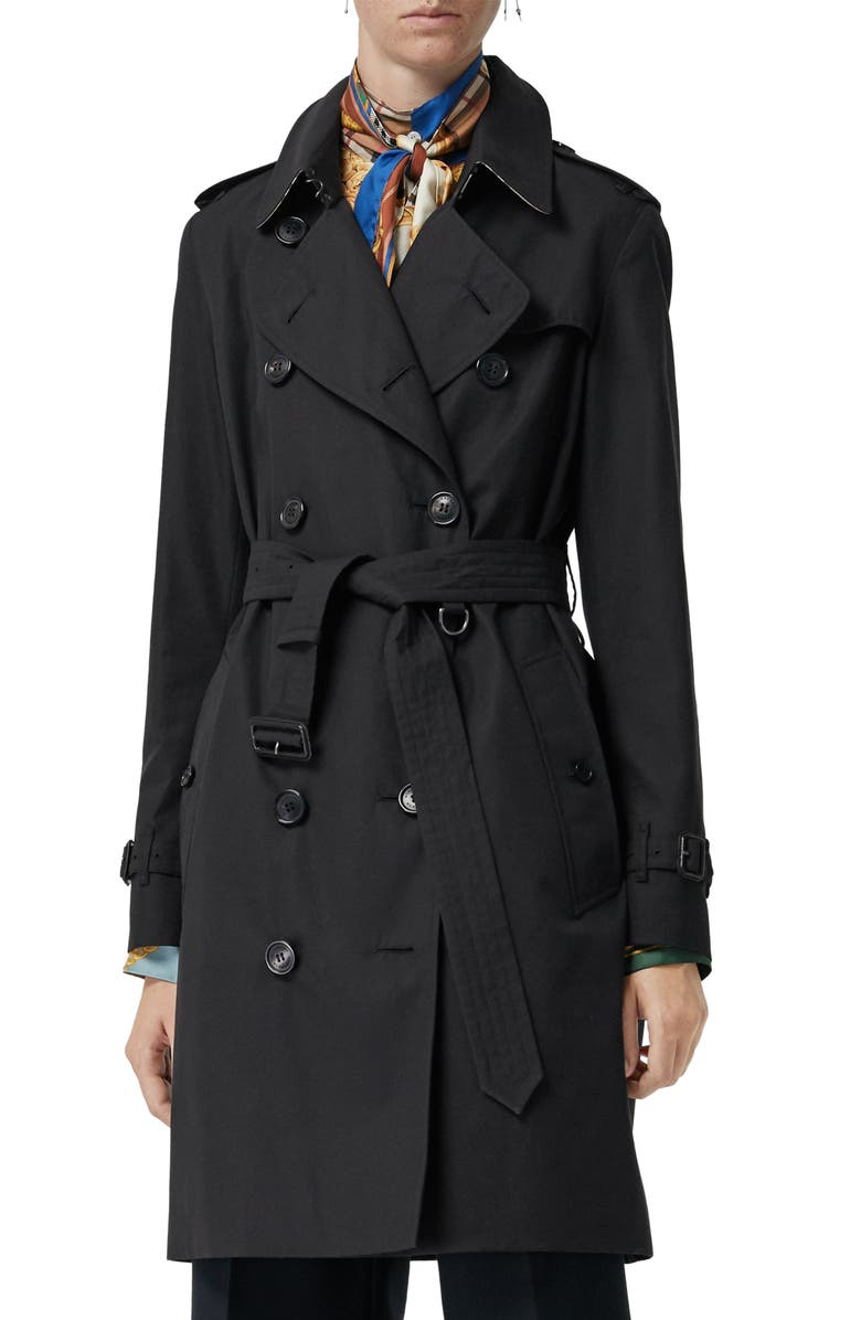 BURBERRY The Kensington Heritage Trench Coat, Main, color, MIDNIGHT