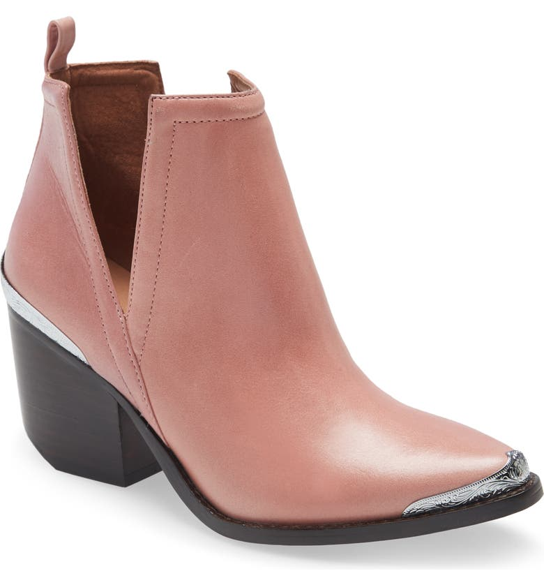 JEFFREY CAMPBELL Cromwell Cutout Western Boot, Main, color, PINK DARK STACK LEATHER