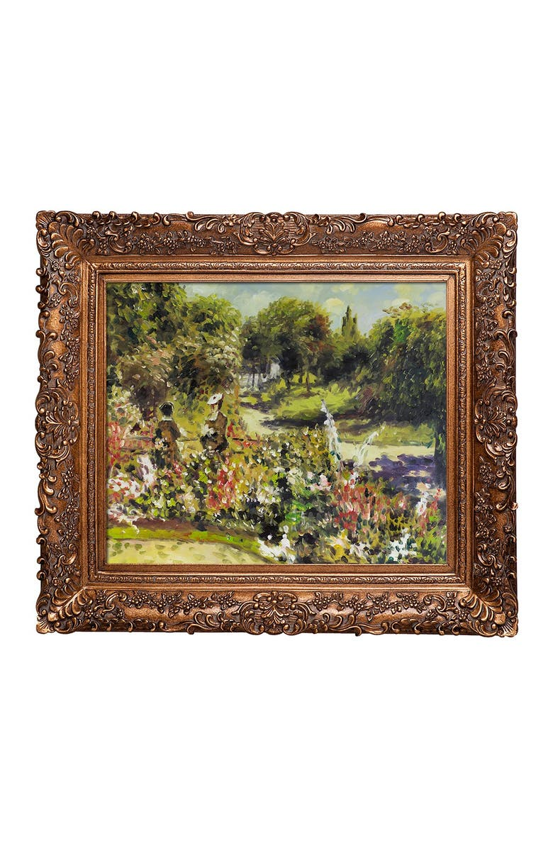 OVERSTOCK ART The Garden at Fontenay, 1874 Framed Oil Reproduction of an Original Painting by Pierre-Auguste Renoir, Main, color, MULTI