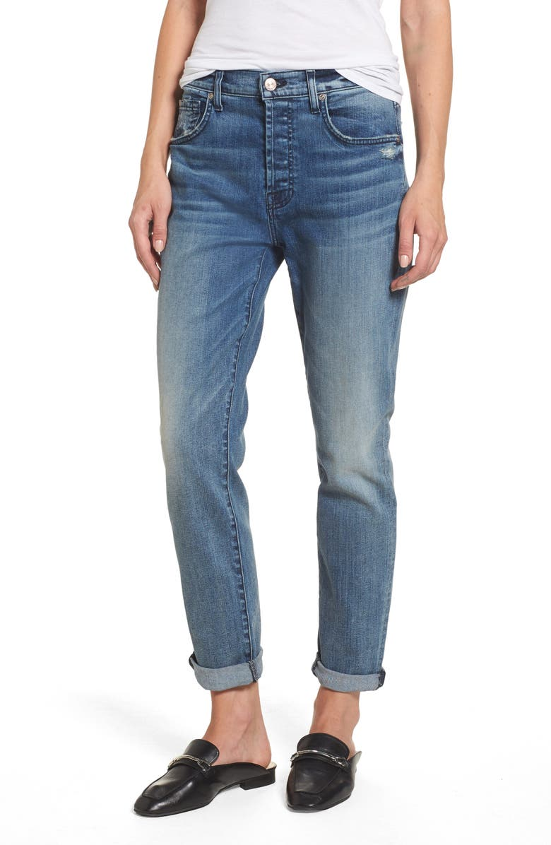 7 FOR ALL MANKIND<SUP>®</SUP> Josefina High Waist Crop Boyfriend Jeans, Main, color, 400
