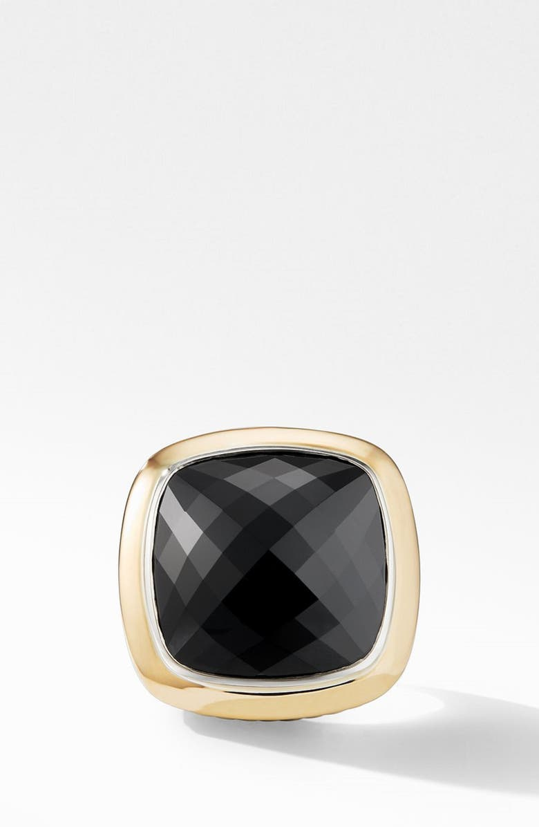 DAVID YURMAN Albion<sup>®</sup> Statement Ring with 18K Gold and Champagne Citrine or Reconstituted Turquoise, Main, color, BLACK ONYX