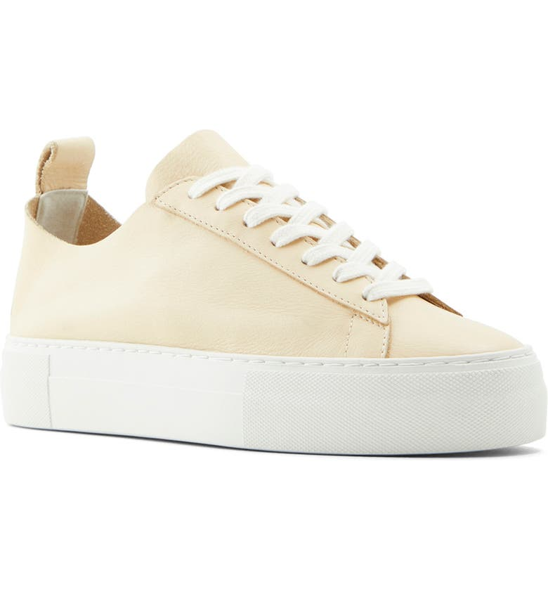 WHO WHAT WEAR Daria Platform Sneaker, Main, color, FRENCH VANILLA NAPPA LEATHER