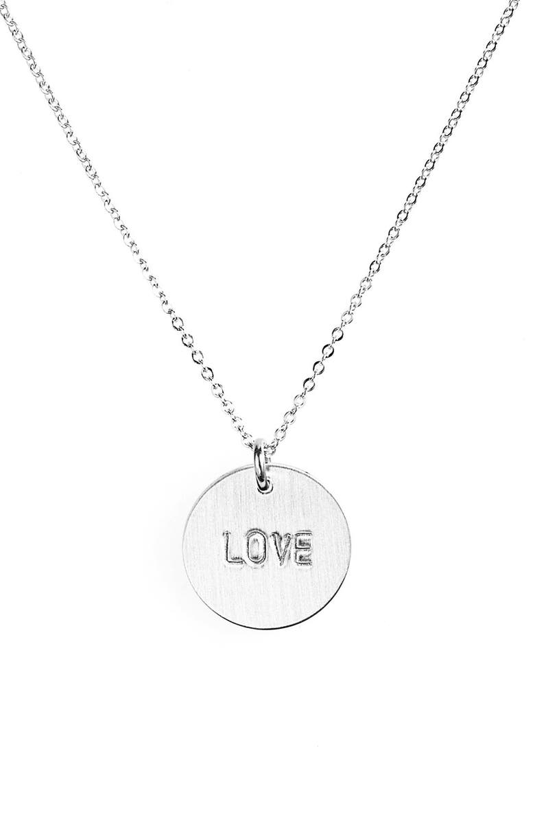 NASHELLE Love Charm Necklace, Main, color, STERLING SILVER LOVE CHARM