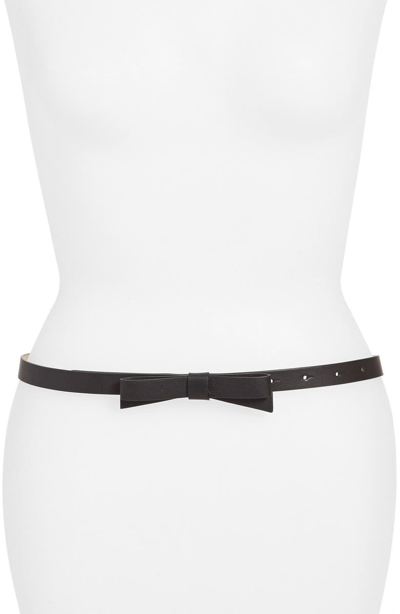 KATE SPADE NEW YORK bow belt, Main, color, 001
