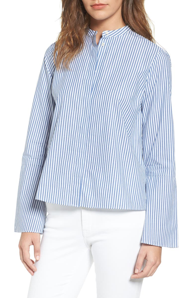 MADEWELL Bell Sleeve Blouse, Main, color, 400