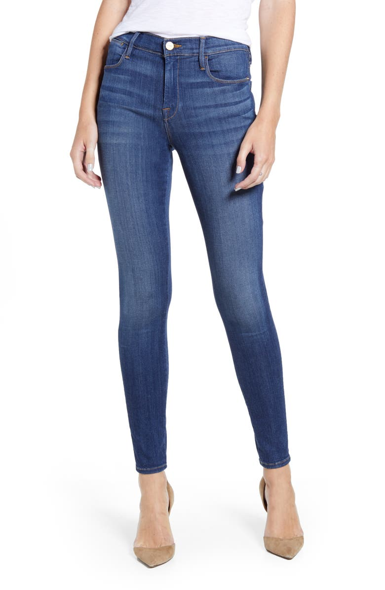 FRAME Le High Skinny Ankle Jeans, Main, color, COBAIN