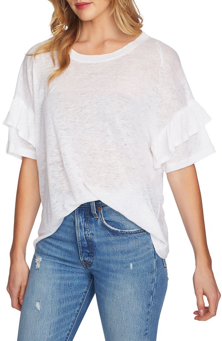 1.STATE Ruffle Linen Tee, Main, color, 103