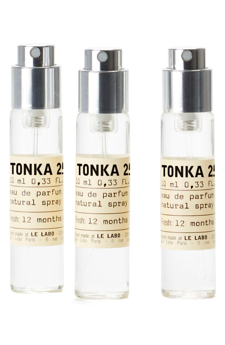 LE LABO Tonka 25 Eau de Parfum Travel Tube Refill Trio, Main, color, NO COLOR