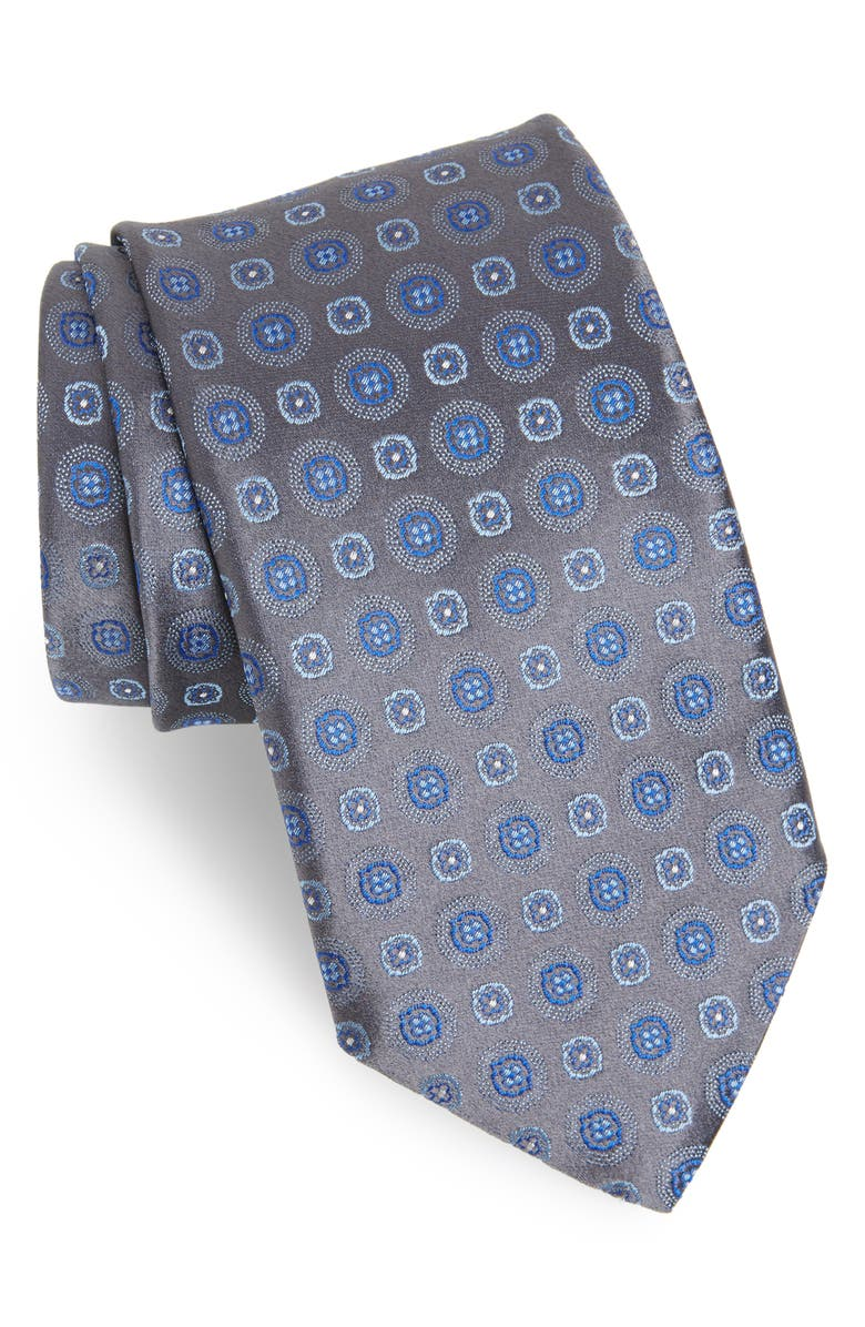 CANALI Medallion Silk Tie, Main, color, 020