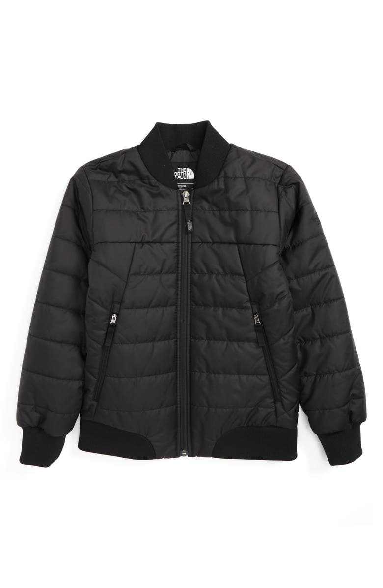 THE NORTH FACE Bodenburg Quilted 550-Fill Down Insulated Bomber Jacket, Main, color, 001