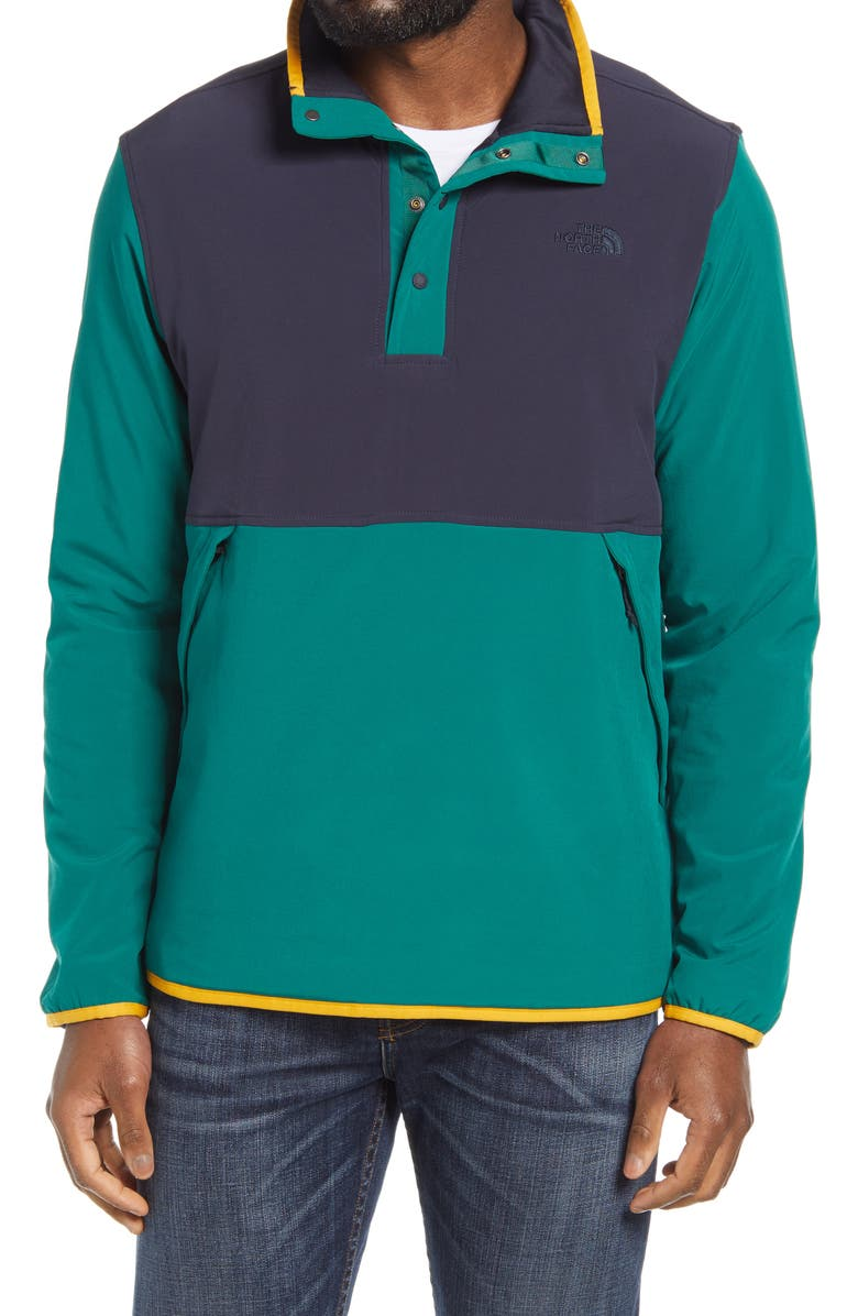 THE NORTH FACE Mountain Pullover, Main, color, AVIATOR NAVY/ EVERGREEN