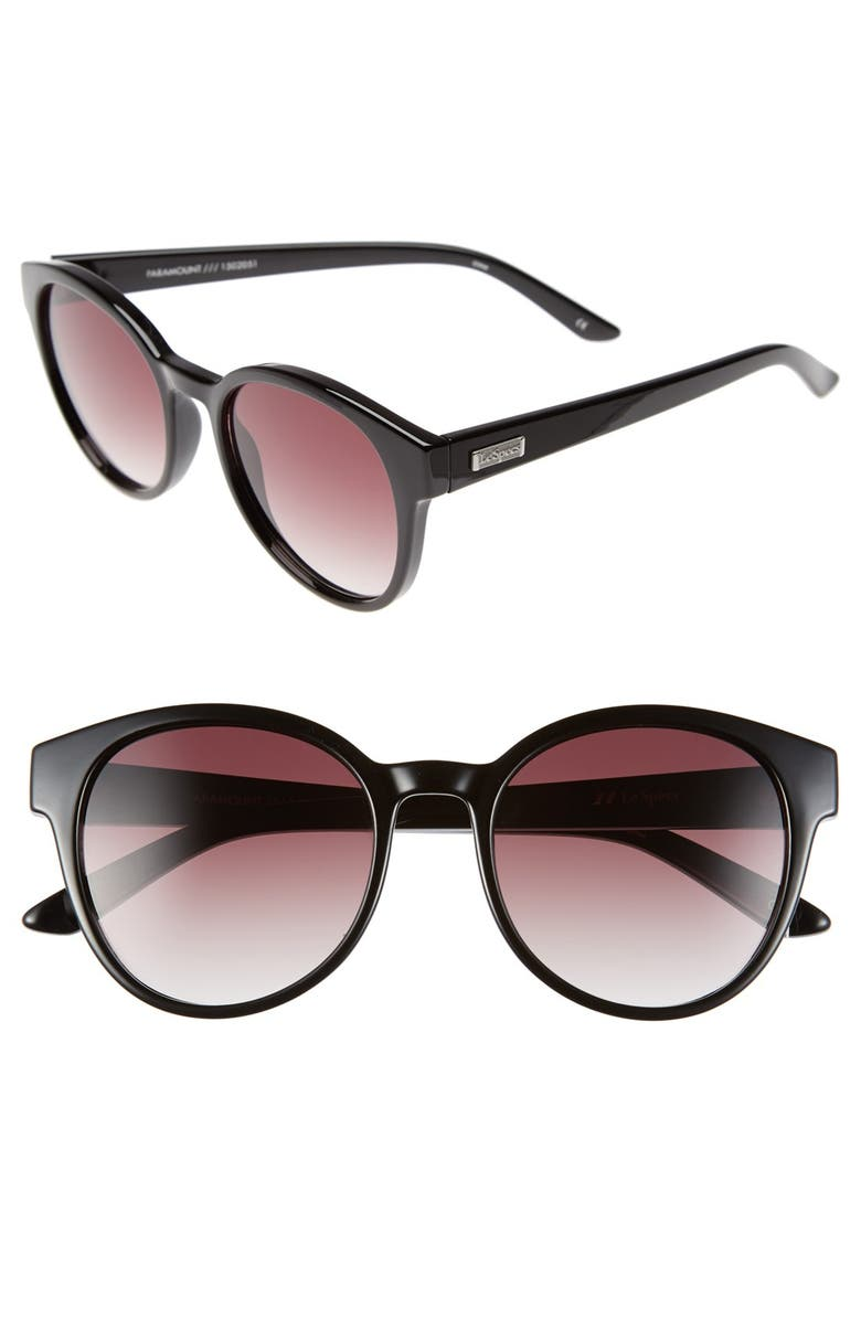 LE SPECS 'Paramount' 53mm Sunglasses, Main, color, 001