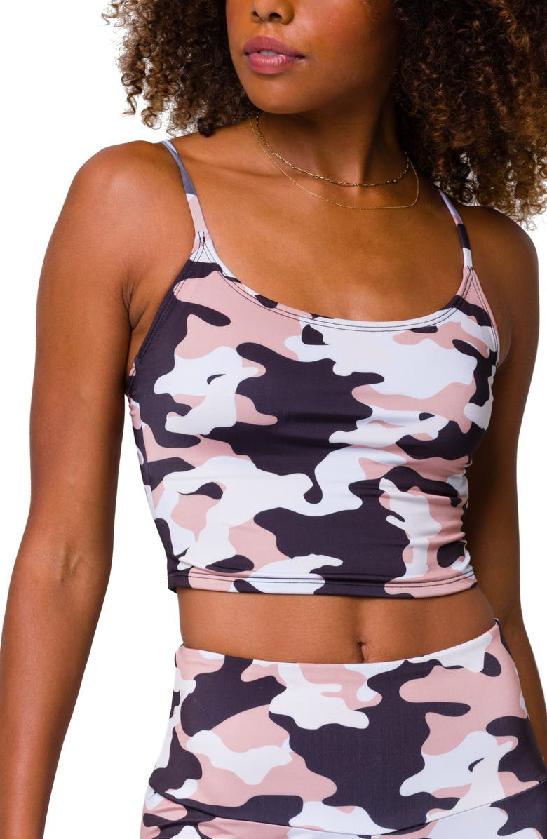 ONZIE Belle Crop Camisole, Main, color, NATURAL CAMO