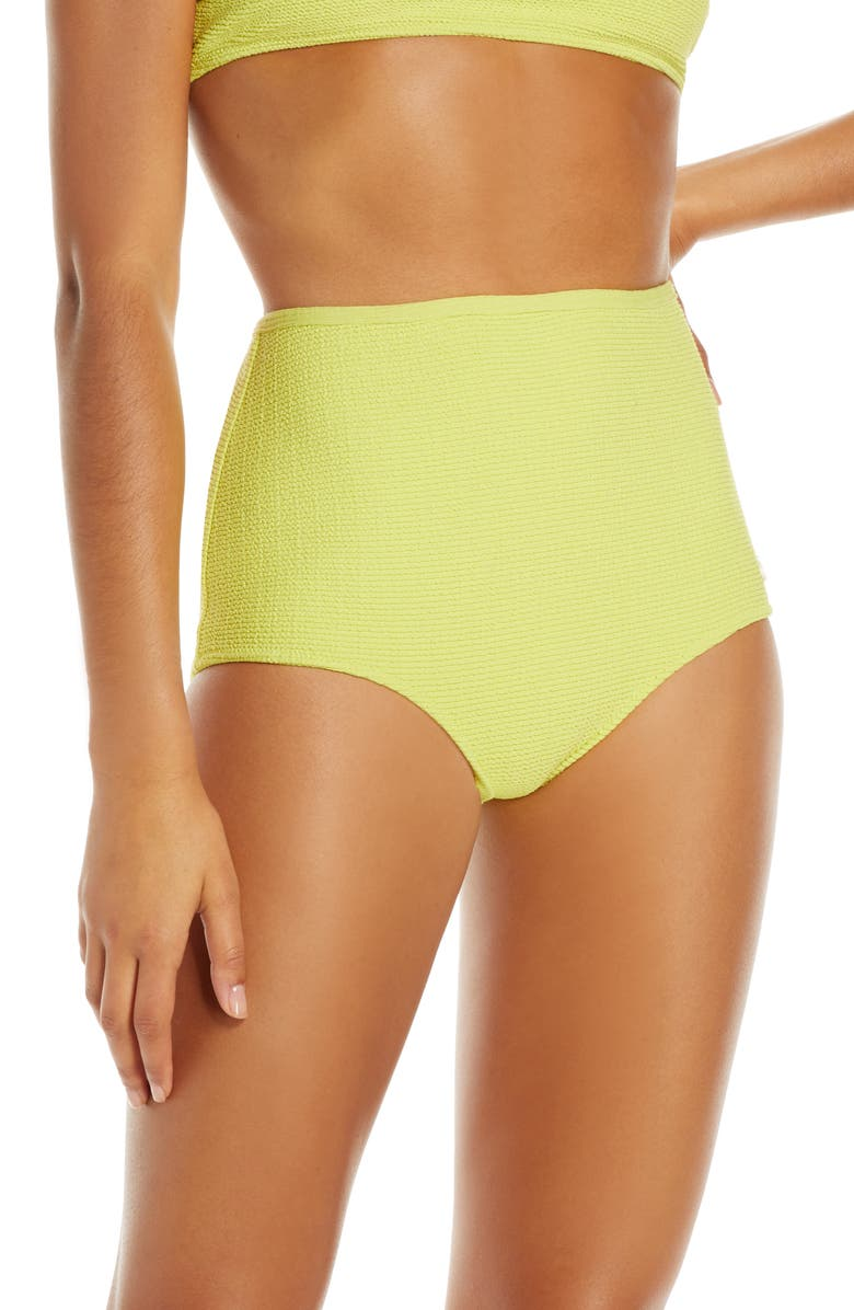 SOLID & STRIPED The Violet High Waist Bikini Bottoms, Main, color, 330