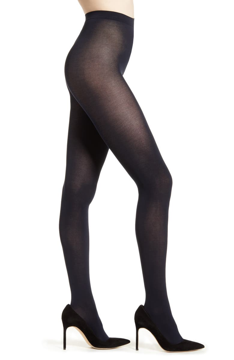 FALKE Cotton Touch 65 Opaque Tights, Main, color, 6179 MARINE