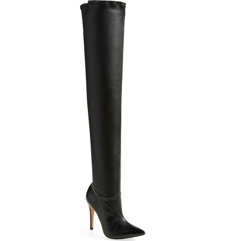 ALICE + OLIVIA 'Dae' Over the Knee Boot, Main, color, 001