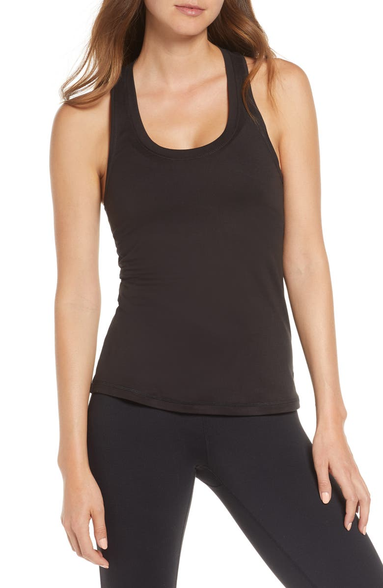 VUORI Lux Performance Tank, Main, color, BLACK