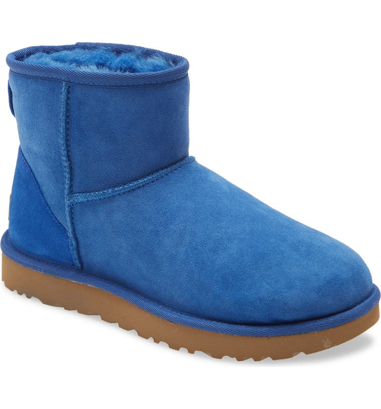 UGG<SUP>®</SUP> Classic Mini II Genuine Shearling Lined Boot, Main, color, CLASSIC BLUE SUEDE