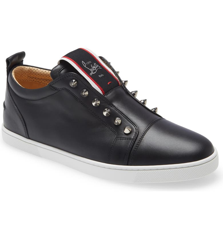 CHRISTIAN LOUBOUTIN F.A.V Fique A Vontade Low Top Sneaker, Main, color, 002