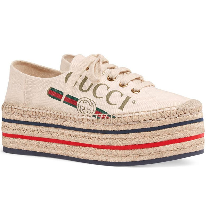 GUCCI Convertible Logo Espadrille, Main, color, 900