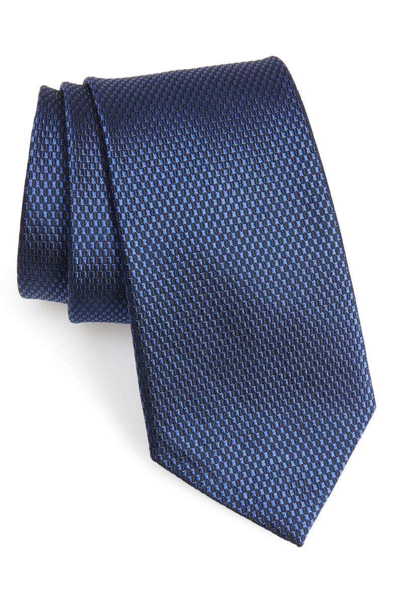 NORDSTROM MEN'S SHOP Nordstrom Solid Silk Tie, Main, color, NAVY