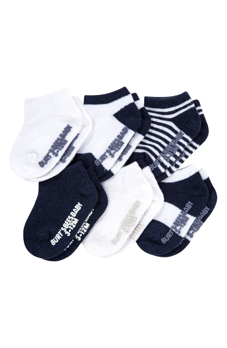 BURT'S BEES Assorted 6-Pack Ankle Socks, Main, color, MIDNIGHT