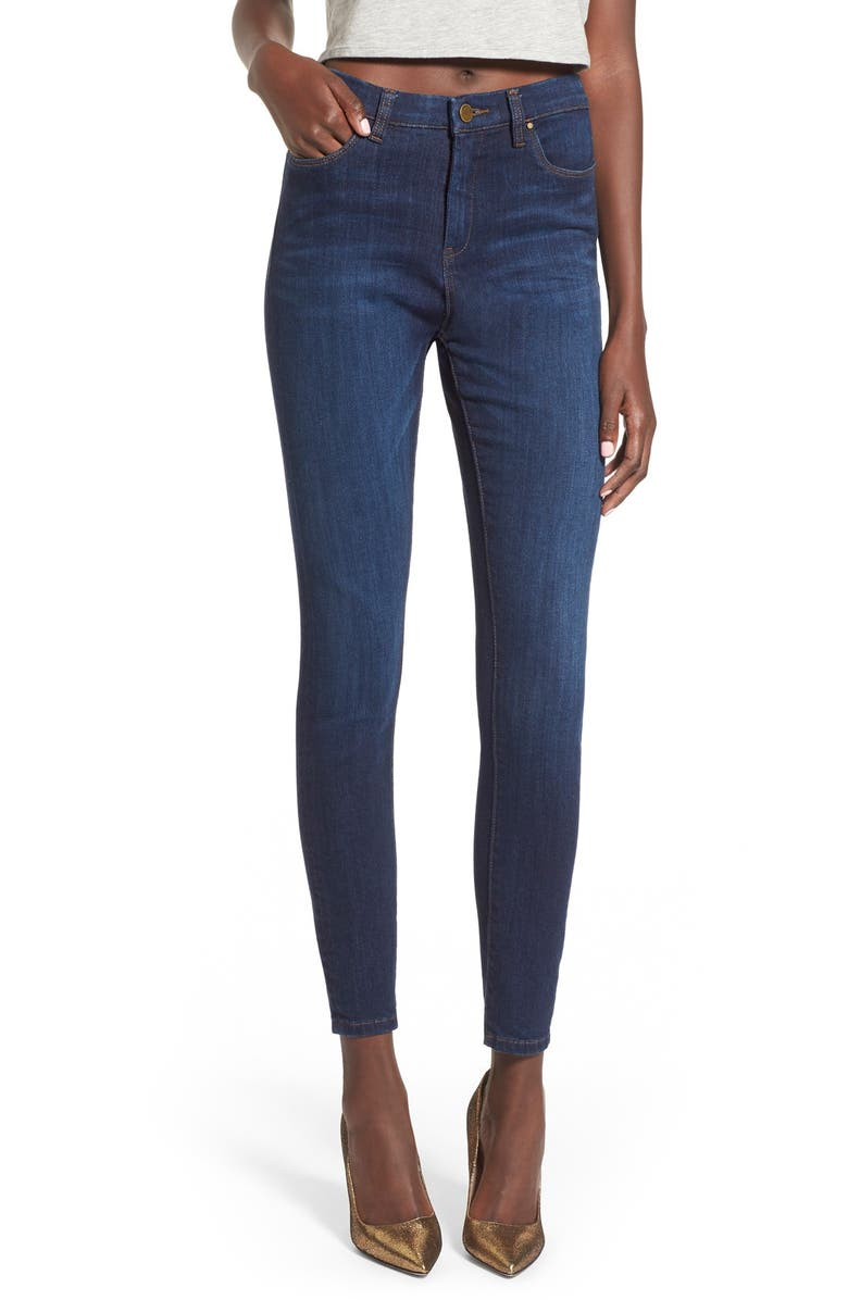 BLANKNYC High Rise Skinny Jeans, Main, color, Blue
