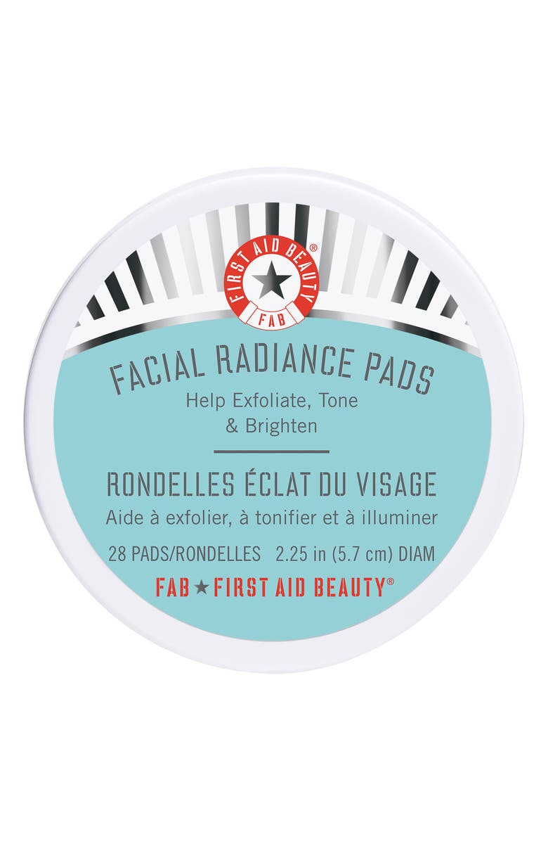 FIRST AID BEAUTY Facial Radiance Exfoliate, Tone & Brighten Pads, Main, color, NO COLOR
