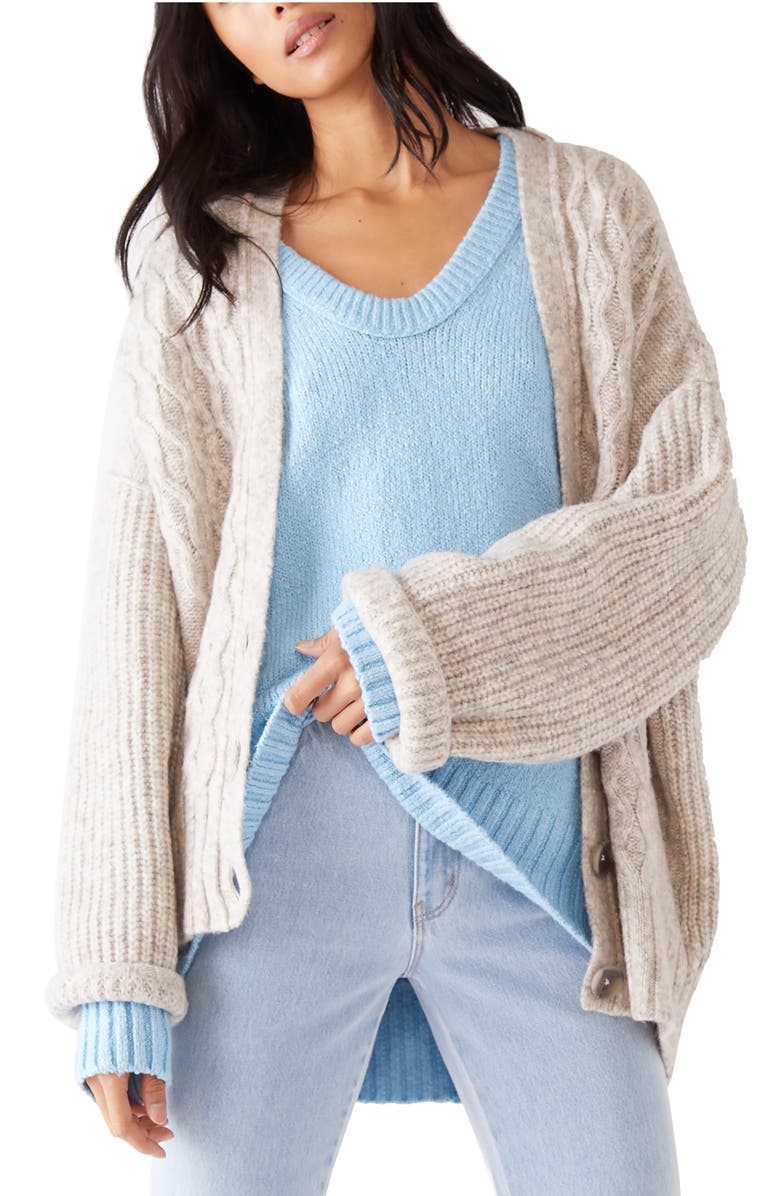 FREE PEOPLE Molly Cable Cardigan, Main, color, 020