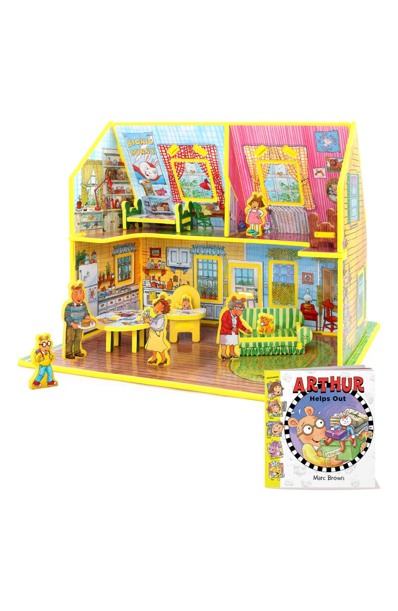 STORYTIME Story Time 'Arthur Helps Out' Book & Toy House Play Set, Main, color, 960