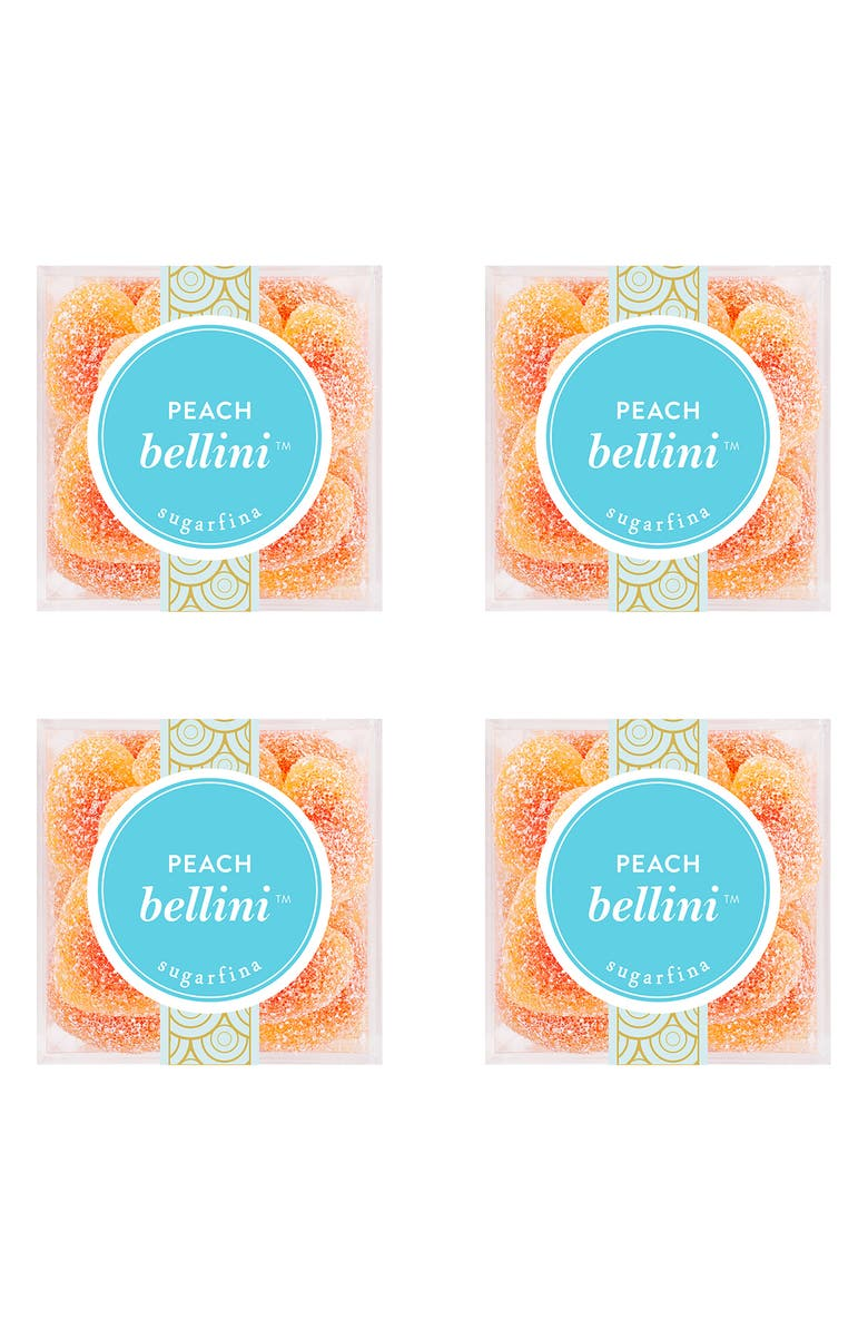 SUGARFINA Peach Bellini Set of 4 Candy Cubes, Main, color, 800