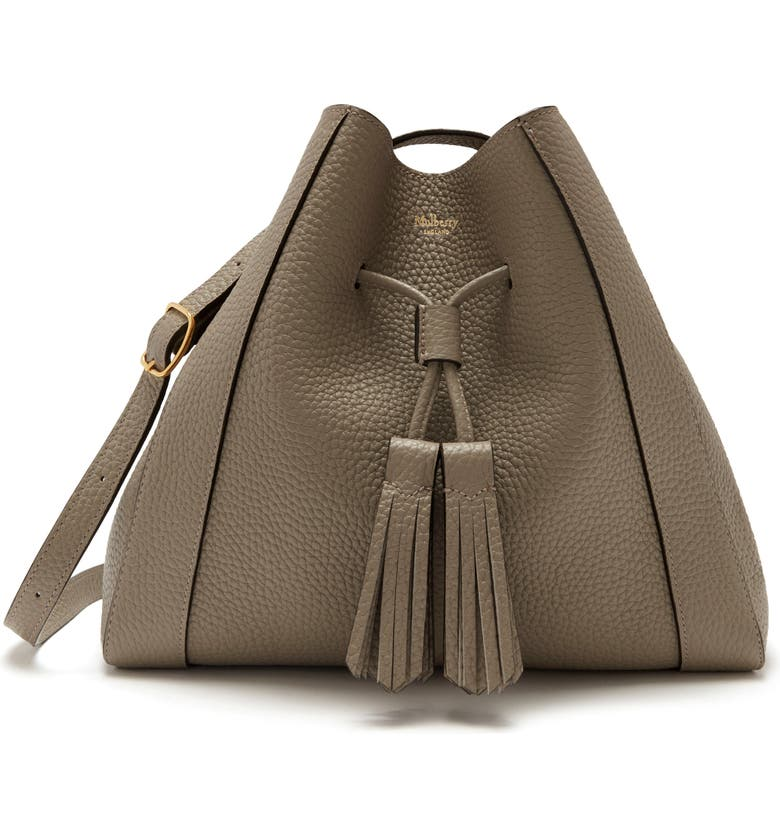 MULBERRY Small Millie Leather Tote, Main, color, SOLID GREY