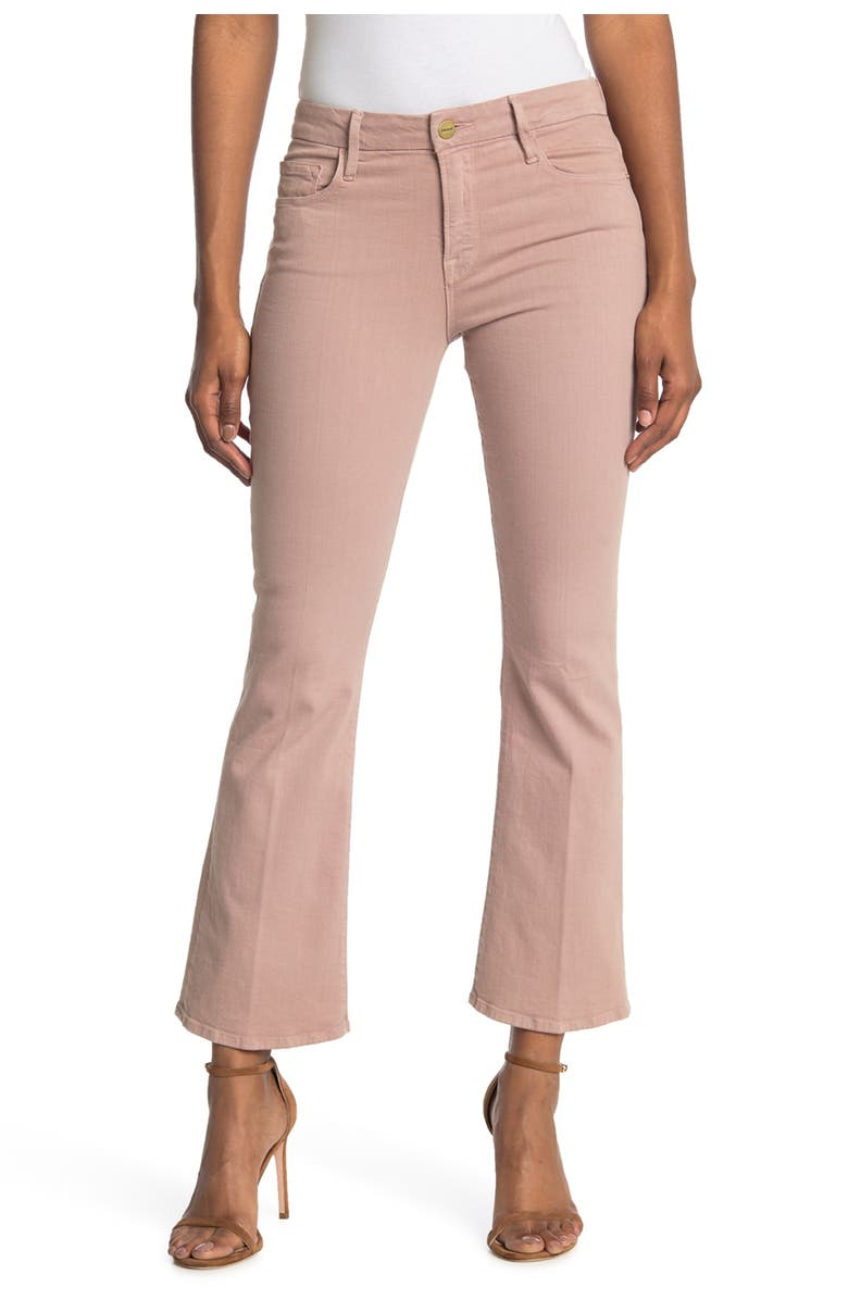 FRAME Le Cropped Mini Bootcut Jeans, Main, color, DUSTY ROSE