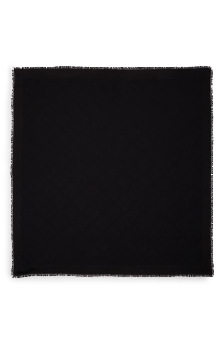 MULBERRY Tree Silk & Cotton Scarf, Main, color, BLACK