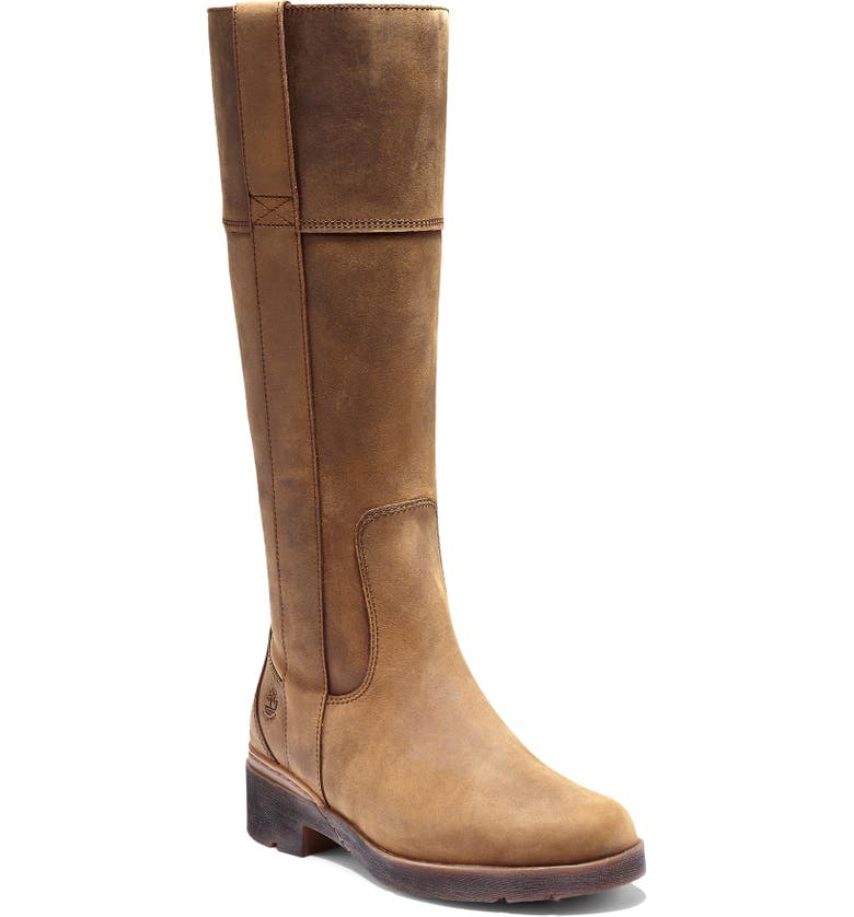 TIMBERLAND Graceyn Waterproof Knee High Boot, Main, color, RUST LEATHER