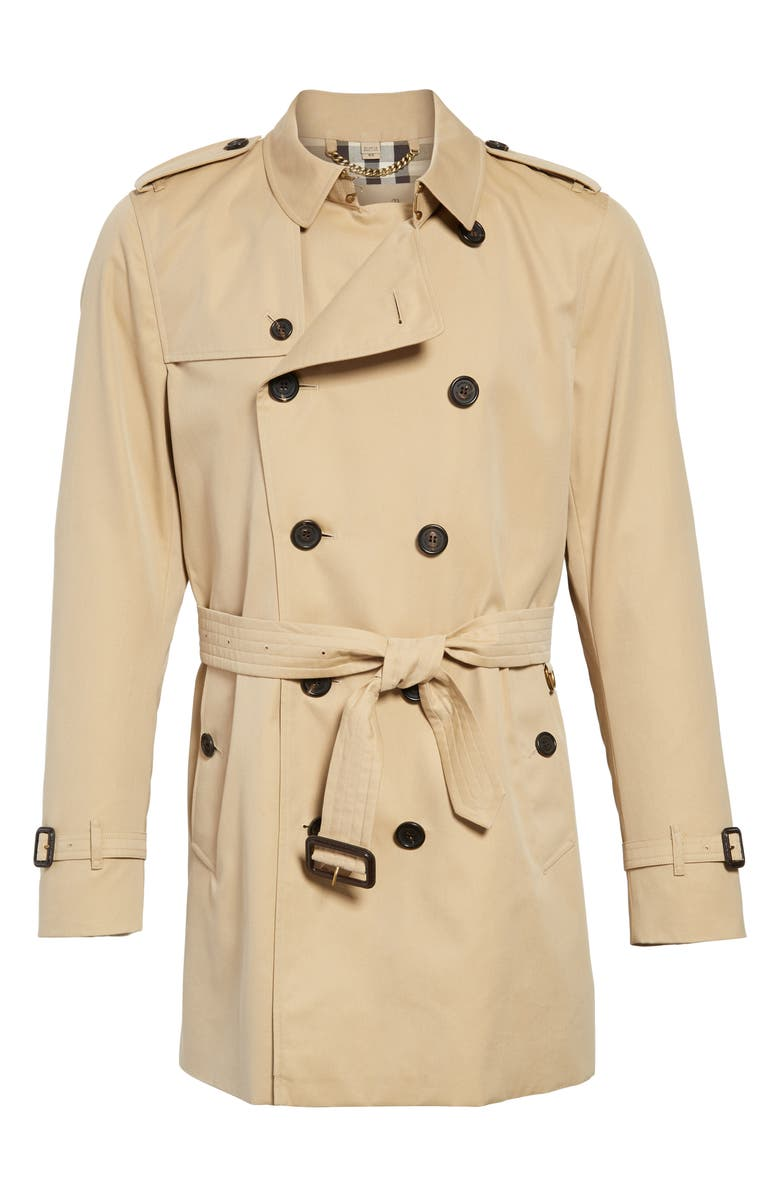 BURBERRY Kensington Double Breasted Trench Coat, Main, color, 255