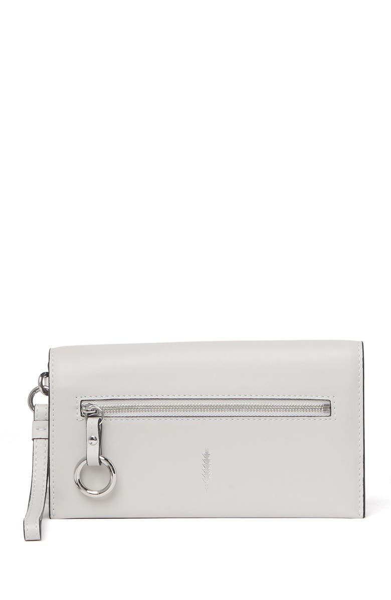 THACKER Eve Leather Crossbody Wallet, Main, color, ICE